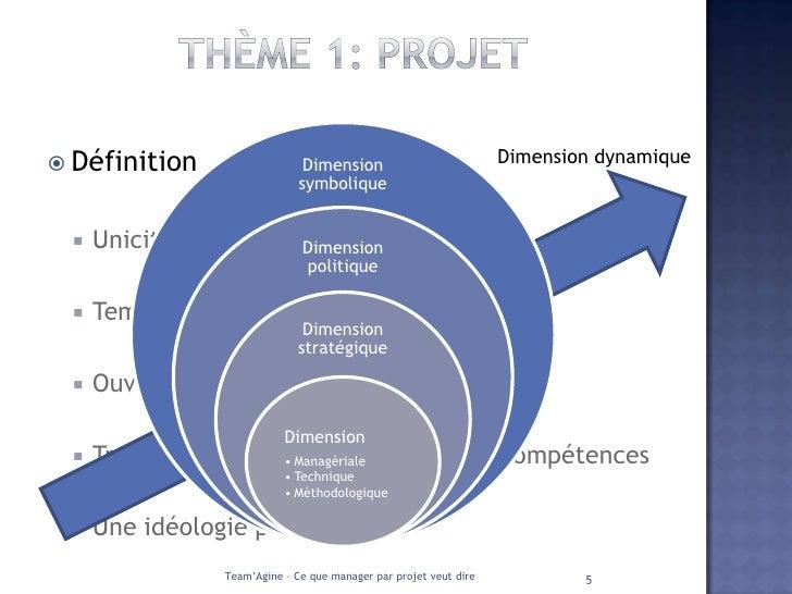 ce que manager par projet veut dire pdf