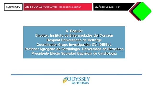 Estudio ODYSSEY OUTCOMES: los expertos opinan Dr. �ngel Cequier Fillat A. Cequier Director. Instituto de Enfermedades del ...