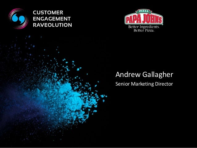 Andrew Gallagher  Senior Marketing Director