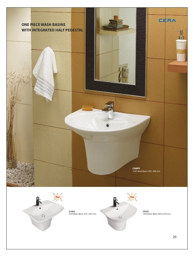 Wash Basin With Integrated Pedestal 520 X 375 Mm19 26