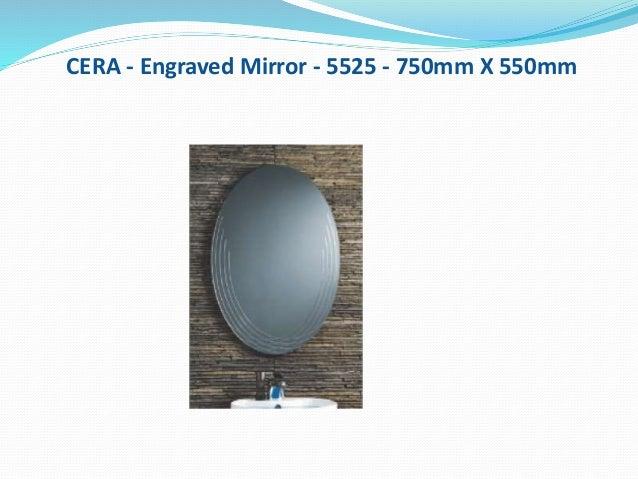 CERA - Engraved Mirror - 5525 - 750mm X 550mm
