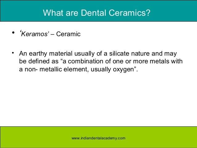 Composition Of Dental Ceramics Dental Ceramics Orthodontic