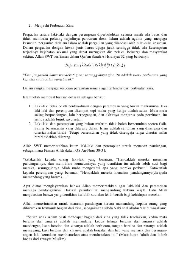 Ceramah Islam Tentang Pergaulan Bebas