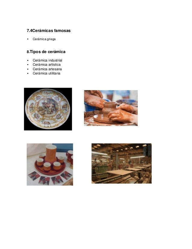 Ceramica Definicion de ceramica
