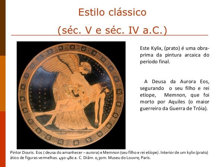 Este Kylix, (prato) é uma obra-prima da pintura arcaica do período final.  A Deusa da Aurora Eos, segurando  o seu filho e...