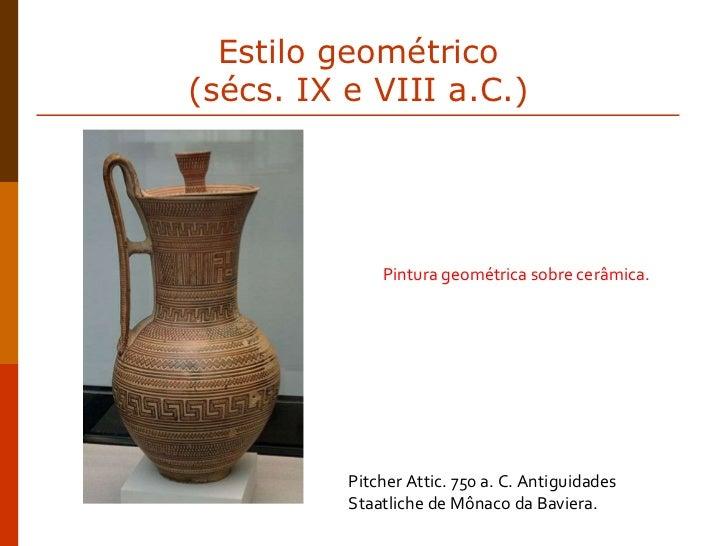 Pitcher Attic. 750 a. C. Antiguidades Staatliche de Mônaco da Baviera. Pintura geométrica sobre cerâmica. Estilo geométric...