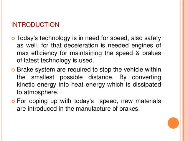 ceramic disc brakes research papers