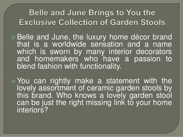 Ceramic Garden Stools Extraordinary Belle And June Home Decor