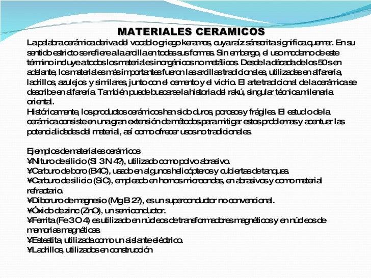Ceramicos Definicion de ceramica