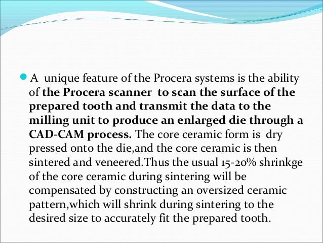 CEREC SYSTEM The Cerec system has been marketed for several years with the improved Cerec 2 system introduced in the mid...