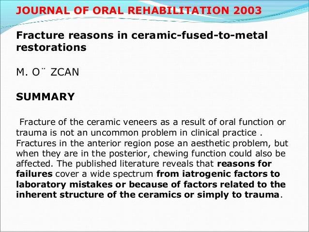 International Association for Dental Research (June 25-28, 2003) Comparison of Tensile Bond Strength of a Pressed Ceramic ...