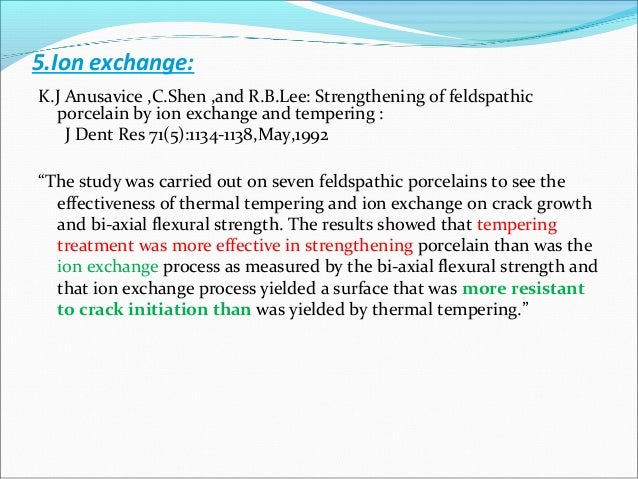 The ion - exchange process is sometimes called CHEMICAL TEMPERING and can involve the sodium ion since sodium is a common ...