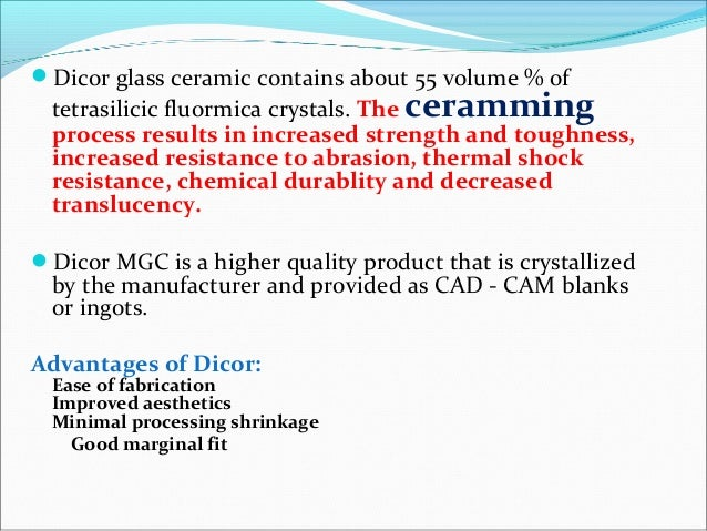 OPC is a leucite containing ceramic andOPC is a leucite containing ceramic and OPC 3G contains lithia disilicate crystalsO...