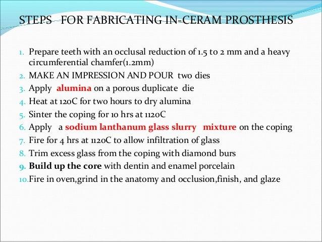 PROCERA ALLCERAM Procera Allceram can be used forProcera Allceram can be used for anterior and posterioranterior and post...