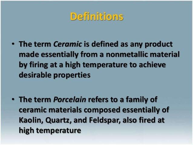 Ceramics for Dental Restorations , Ceramic-Metal Restorations ,All-CeramicRestorations dental material Slide 2