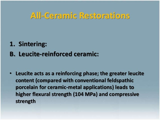 Ceramics For Dental Restorations Ceramic Metal