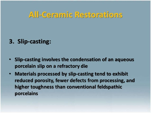 Ceramics For Dental Restorations Ceramic Metal