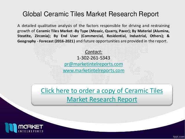 Key Factors For Global Ceramic Tiles Market Growth 2016