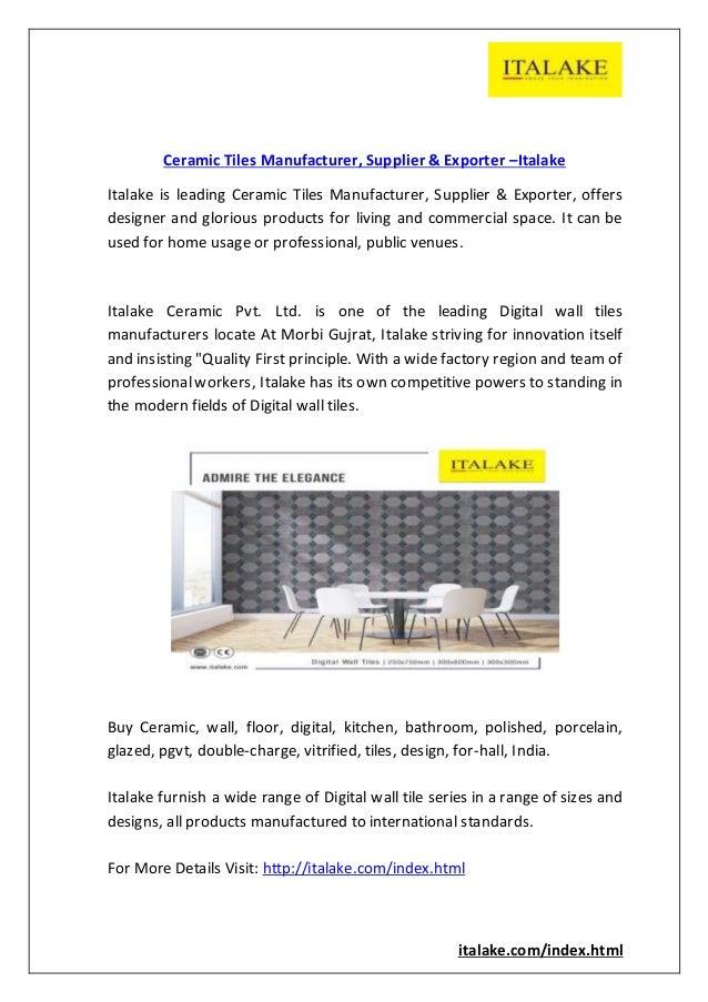 Ceramic tiles manufacturer, supplier &