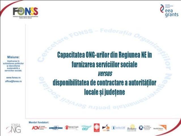  La cercetare au participat un număr de 33 de organizații, acreditate ca furnizori de servicii sociale din Regiunea Nord-...