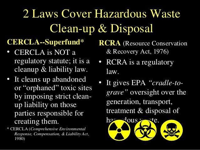 cercla  u0026 rcra  tossing toxic trash
