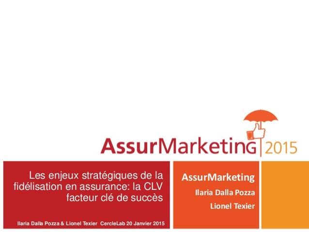 Les enjeux stratégiques de la fidélisation en assurance: la CLV facteur clé de succès AssurMarketing Ilaria Dalla Pozza Li...