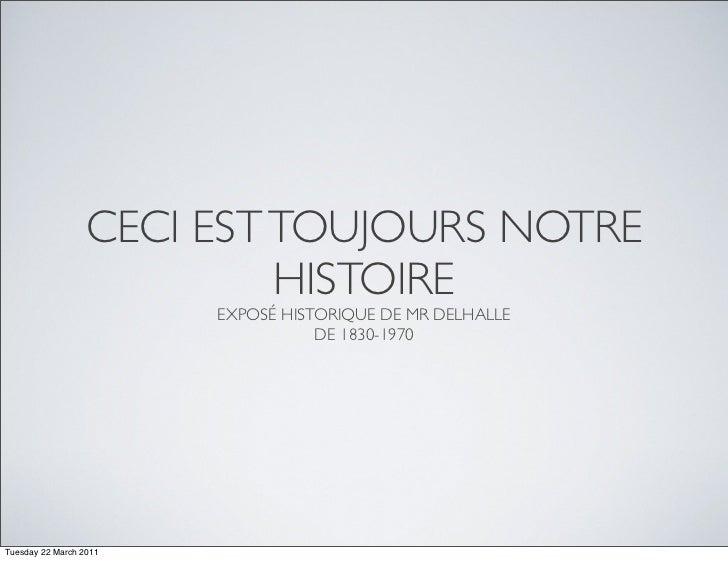 Où est passée la Belgique de Grand-Papa (Cercle Politique St-Michel) Slide 3