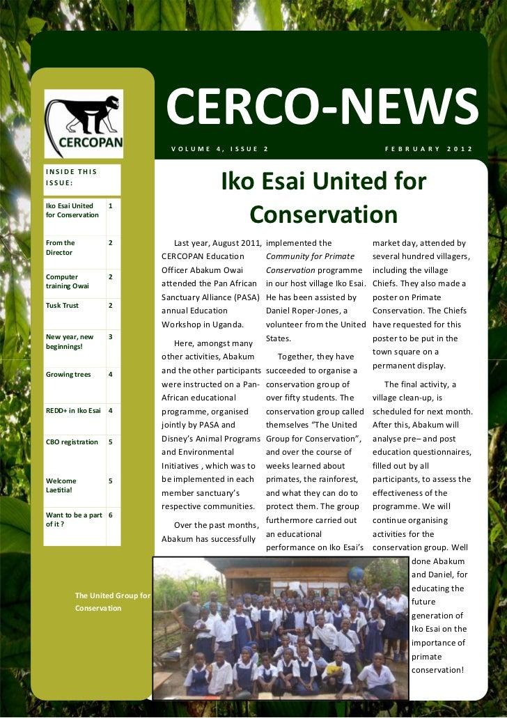 CERCO‐NEWS                                   VOLUME4,ISSUE2                                          F E B R U A R Y ...