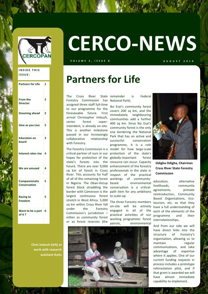 CERCO‐NEWS                                        VOLUME 2, ISSUE 8                                                       ...