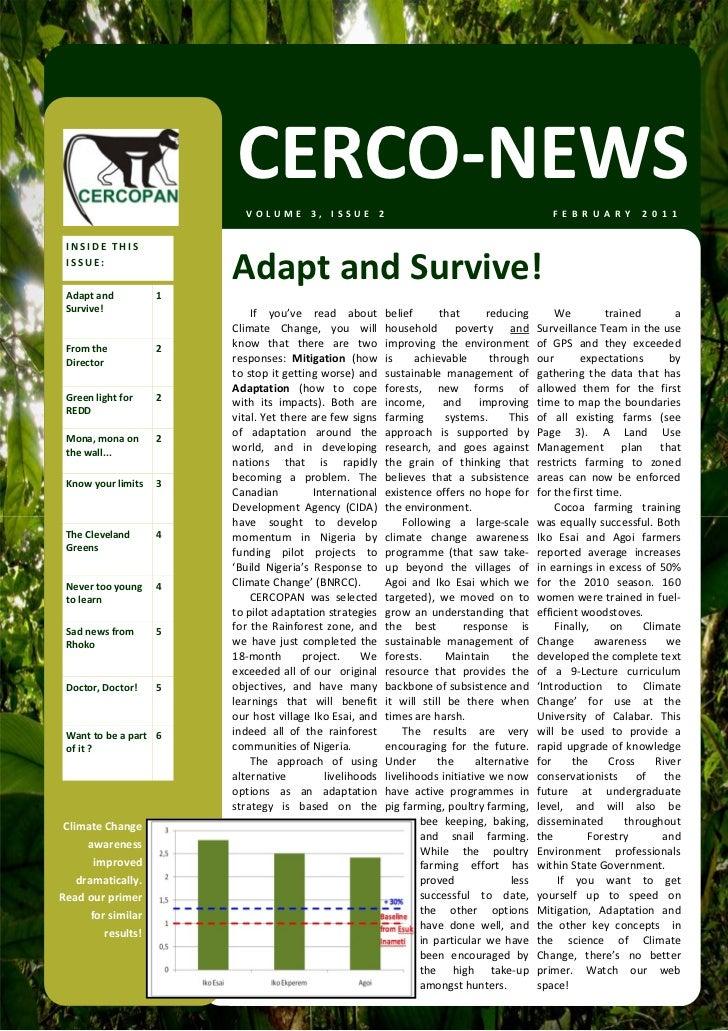 CERCO‐NEWS                              VOLUME3,ISSUE2                                                          F E B ...