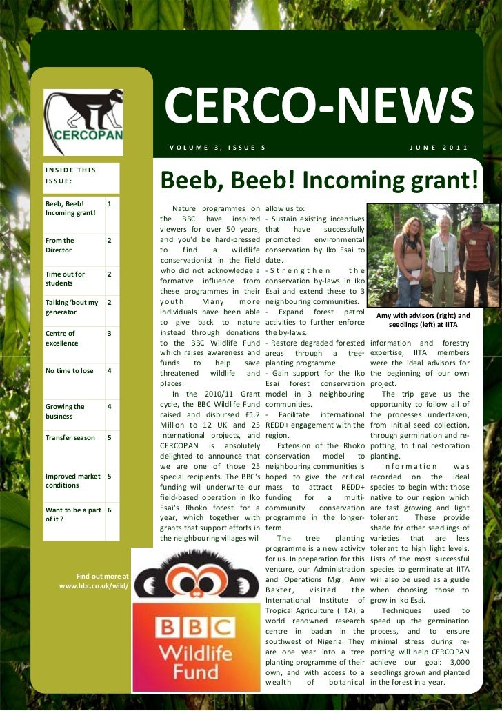 CERCO‐NEWS                                 VOLUME 3, ISSUE 5                                                              ...