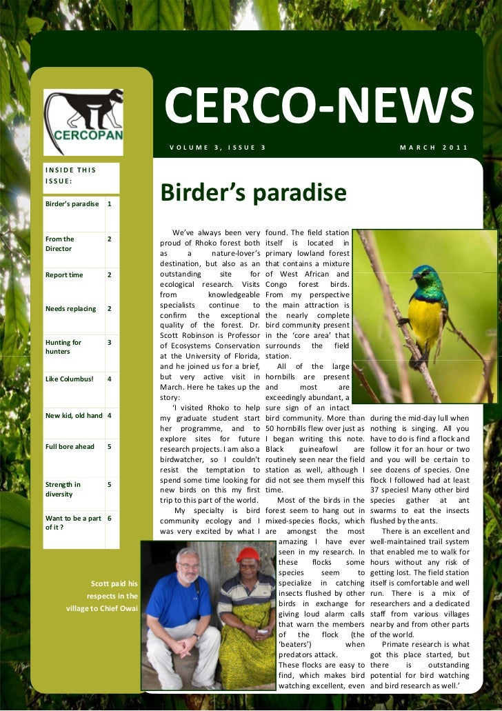 CERCO‐NEWS                                   VOLUME3,ISSUE3                                                           ...