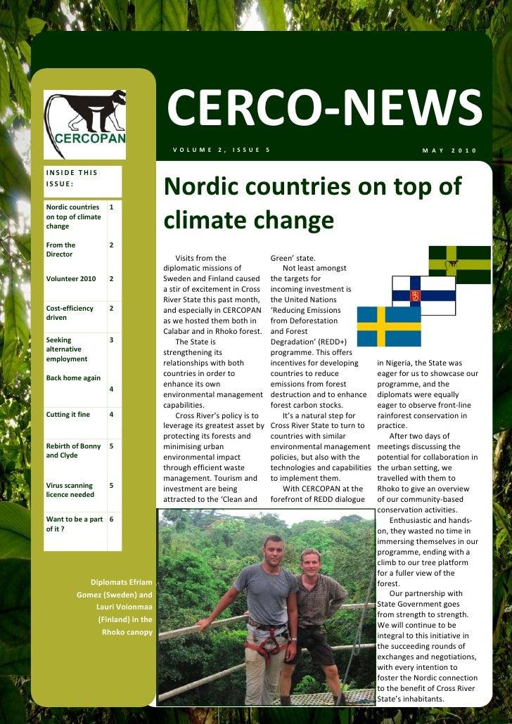 CERCO‐NEWS                                      VOLUME2,ISSUE5                                                        ...