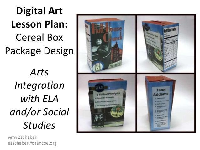 Digital Art Lesson Plan Cereal Box Package Design Arts Integratio