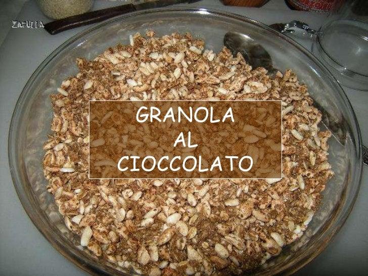 GRANOLA     ALCIOCCOLATO