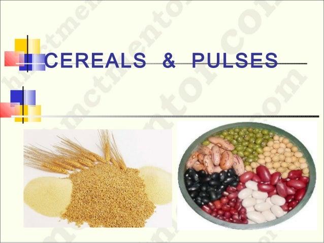 CEREALS & PULSES