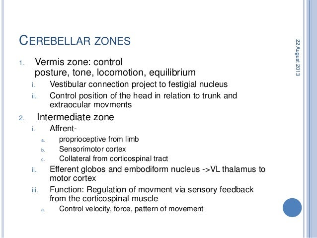 CEREBELLAR DYSFUNCTION 1. Ataxia: Limb, gait and speech 2. Speech: Scanning 3. Tremor: Postural, intention, limb, trunk an...
