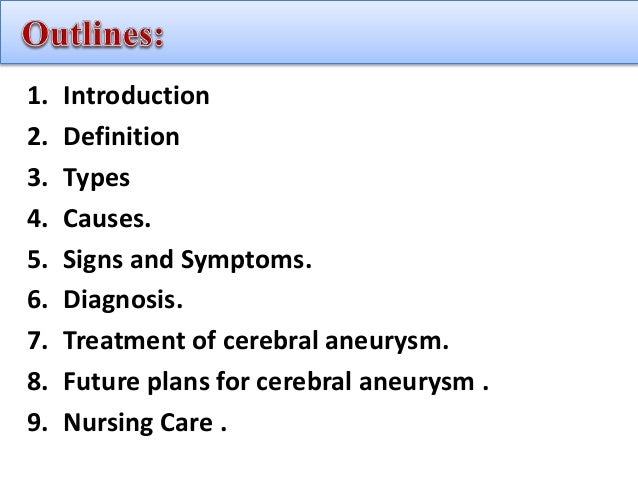 What are common signs of an aneurysm?