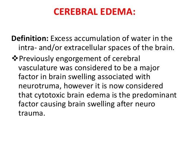 steroids cerebral oedema