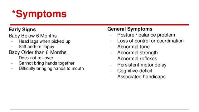 Cerebral Palsy Baby Symptoms
