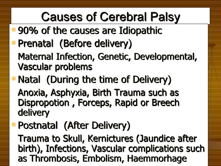 birth defect cerebral palsy essay Cerebral palsy - topic overview articles on even when the condition is present at birth, the signs of cerebral palsy may not be noticed until a child is 1 to 3.