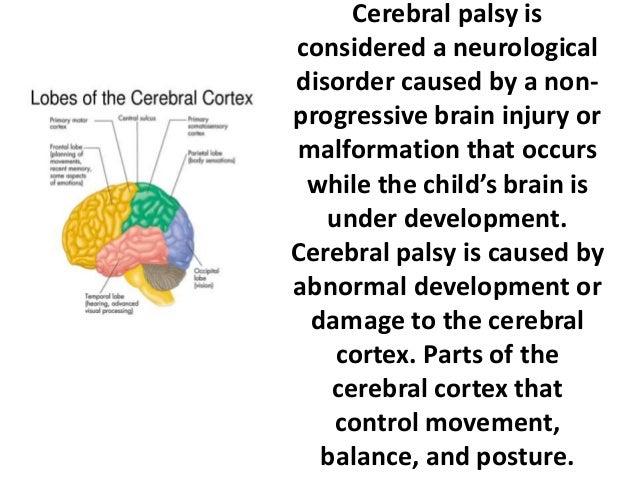 Cerebral palsy presentation