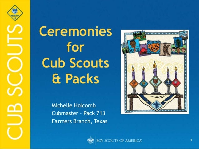 Ceremonies for cub scout packs for Cub scout powerpoint template
