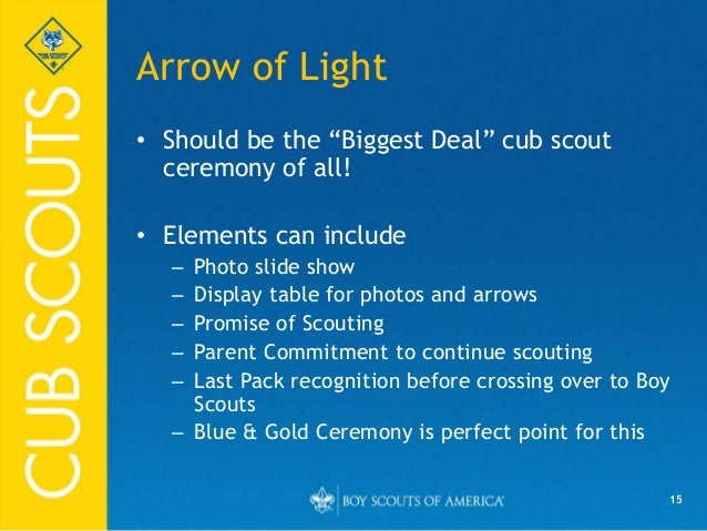 Ceremonies for Cub Scout Packs