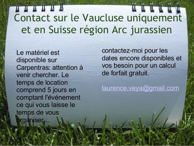 Contact sur le Vaucluse uniquement et en Suisse région Arc jurassien Lematérielest disponiblesur Carpentras:attenti...