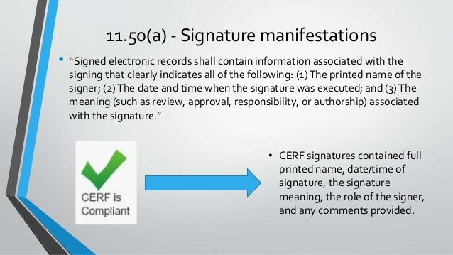 CERF ELN, 21CFR11 Analysis and Compliance