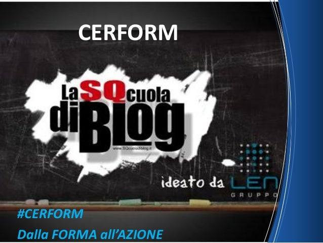 #CERFORM Dalla FORMA all'AZIONE CERFORM