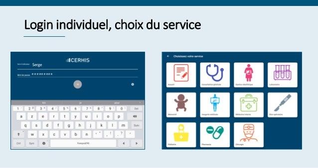 Login individuel, choix du service Serge *********