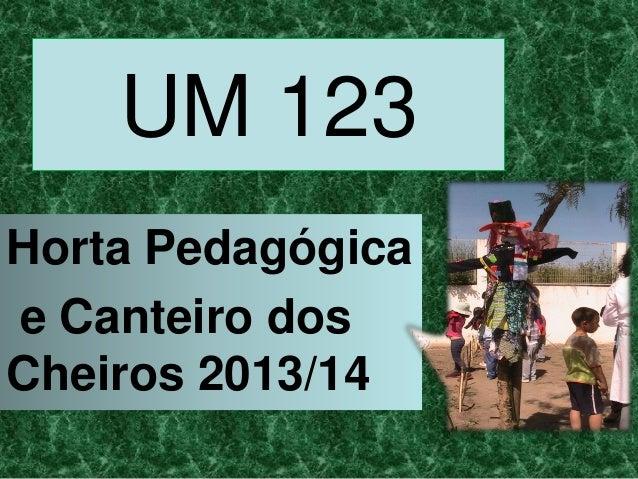 UM 123 Horta Pedagógica e Canteiro dos Cheiros 2013/14