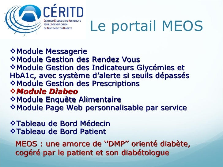 Le portail MEOS <ul><li>Module Messagerie </li></ul><ul><li>Module Gestion des Rendez Vous </li></ul><ul><li>Module Gestio...